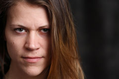 Portret van jonge witte vrouw royalty-vrije stock foto's