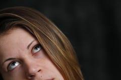 Portret van jonge witte vrouw stock foto