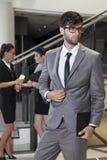 Portret van jonge zakenman Stock Foto's