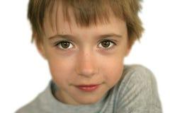 Portret van jongen met bruine ogen royalty-vrije stock afbeeldingen