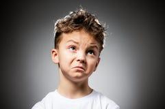 Emotionele jongen Royalty-vrije Stock Afbeeldingen
