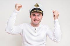 Portret van kapitein met zeeman GLB stock foto's
