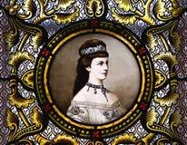 Portret van keizerin Elisabeth van Oostenrijk stock foto's