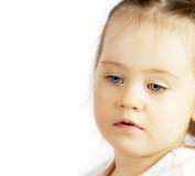 Portret van kind dichte omhooggaand Royalty-vrije Stock Foto