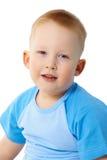 Portret van kind in een blauwe T-shirt Royalty-vrije Stock Afbeelding