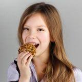 Portret van kind (meisje), beten Stock Fotografie