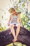 Portret van kind met hoed Royalty-vrije Stock Afbeelding