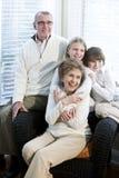 Portret van kinderen met grootouders Stock Afbeelding