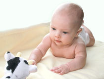 Portret van klein babymeisje Stock Foto