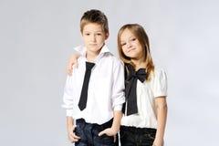 Portret van kleine jongens en meisjes Stock Fotografie