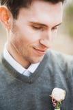 Portret van knappe kerel Stock Afbeeldingen
