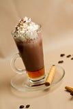 Portret van kop van smakelijke coffe Stock Afbeeldingen
