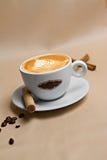 Portret van kop van smakelijke coffe Stock Fotografie