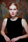 Portret van koude schoonheid royalty-vrije stock fotografie
