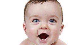 Portret van lachende baby royalty-vrije stock afbeeldingen