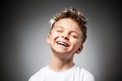 Emotionele jongen Stock Foto