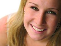 Portret van lachende vrouw Stock Fotografie