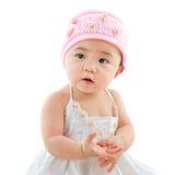 Portret van leuk Aziatisch babymeisje royalty-vrije stock afbeelding