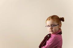 Portret van leuk elegant redhead meisje Stock Fotografie