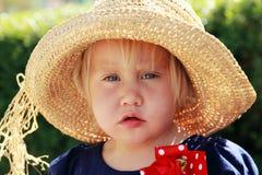 Portret van leuk meisje stock foto's