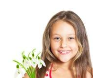 Portret van leuk meisje stock afbeeldingen