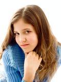 Portret van leuk tienermeisje Royalty-vrije Stock Afbeeldingen
