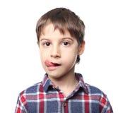 Portret van leuk weinig jongen stock afbeelding