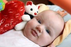 Portret van leuke baby Stock Afbeelding