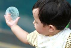 Portret van leuke babyjongen Royalty-vrije Stock Foto's