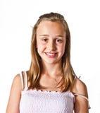 Portret van leuke jongelui   meisje Stock Foto's