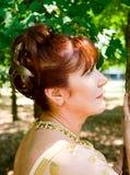 Portret van leuke vrouw Stock Afbeelding