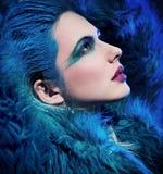 Portret van leuke vrouw Stock Fotografie