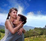 Portret van liefde in aard Royalty-vrije Stock Foto's