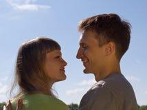 Portret van liefde in aard Stock Foto's