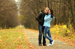 Portret van liefdepaar Stock Foto