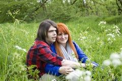 Portret van liefdepaar Stock Afbeeldingen