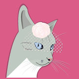 Portret van manier dame-kat vector illustratie