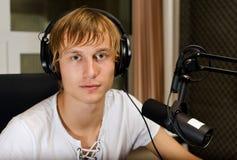 Portret van mannelijk DJ Stock Fotografie