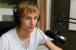 Portret van mannelijk DJ Royalty-vrije Stock Foto's