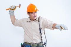 Portret van mannelijke technicus Stock Foto's