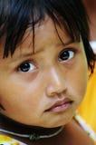 Portret van meisje in Ben Tre, Vietnam royalty-vrije stock foto's