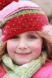 Portret van Meisje Gekleed voor Koud Weer Royalty-vrije Stock Afbeelding
