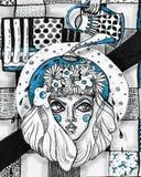 Portret van meisje het dudling Royalty-vrije Stock Foto