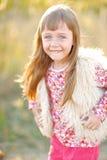 Portret van meisje in openlucht Royalty-vrije Stock Afbeeldingen