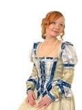 Portret van meisje in Poolse kleren van eeuw 16 stock fotografie