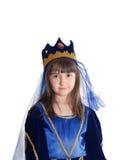 Portret van meisje in prinseskostuum royalty-vrije stock afbeeldingen