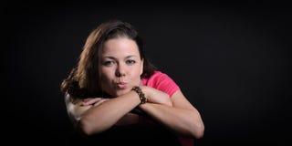 Portret van Meisje in Studio Royalty-vrije Stock Afbeeldingen