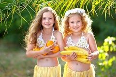 Portret van meisje twee royalty-vrije stock fotografie