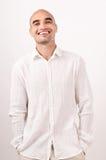 Portret van mens het glimlachen. royalty-vrije stock afbeelding