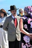 Portret van mensen in historische kostuums Royalty-vrije Stock Foto